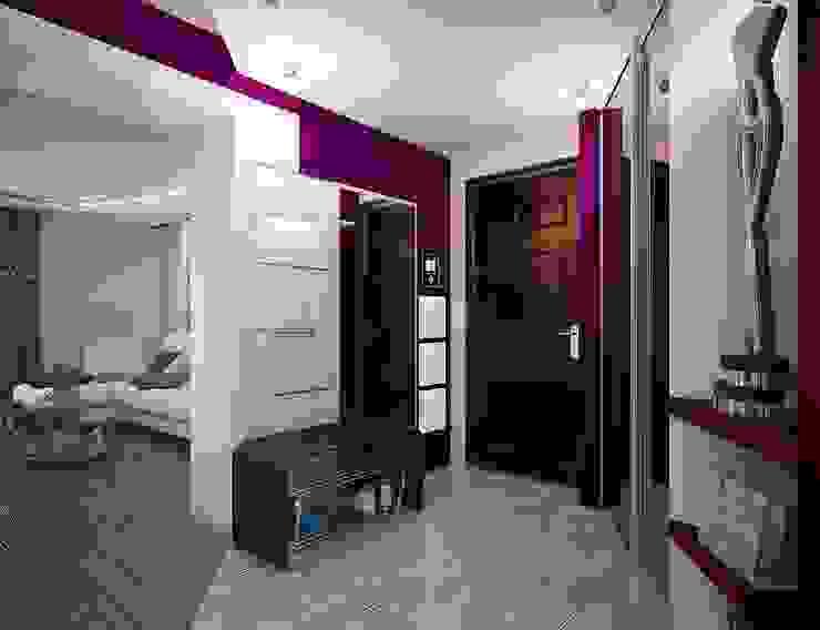 Pasillos, vestíbulos y escaleras de estilo moderno de Инна Михайская Moderno