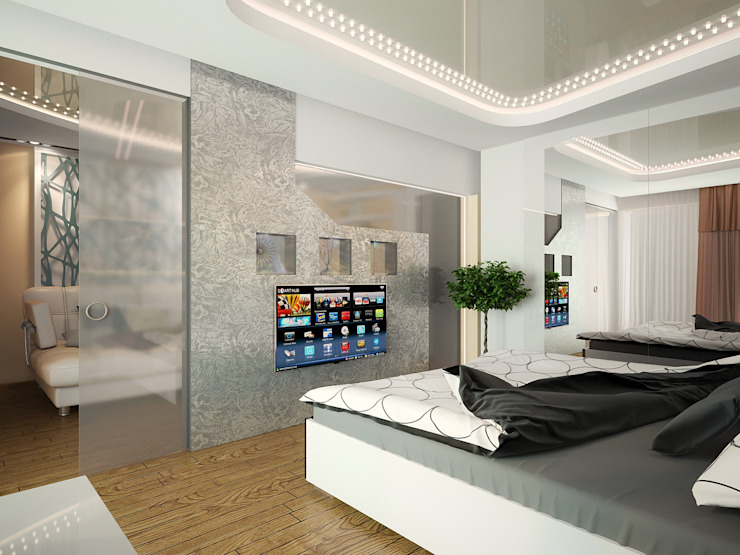 Проект 4х комнатной квартиры Спальня в стиле модерн от Инна Михайская Модерн