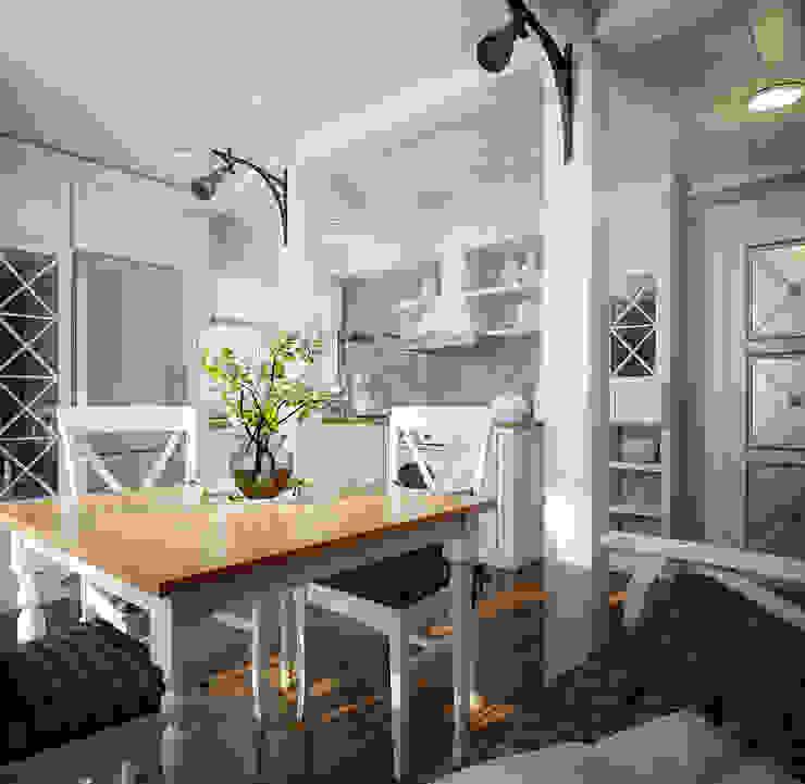 Проект гостевого домика Столовая комната в средиземноморском стиле от Инна Михайская Средиземноморский