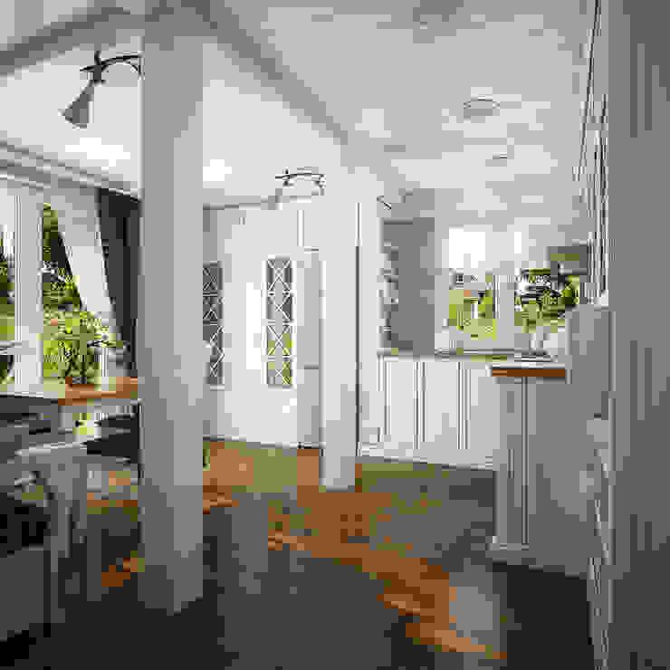 Проект гостевого домика Кухня в средиземноморском стиле от Инна Михайская Средиземноморский