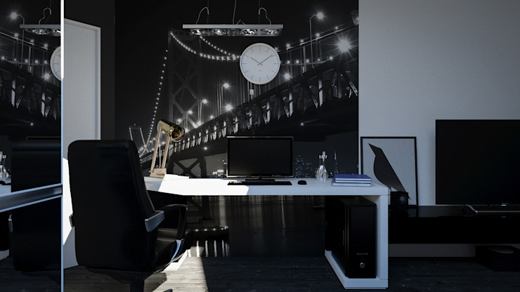 Minimalism Рабочий кабинет в стиле минимализм от SVPREMVS Минимализм