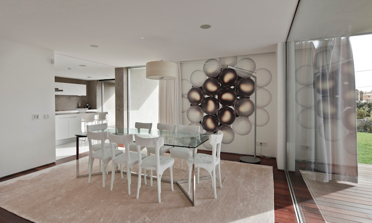 Minimalist dining room by Areacor, Projectos e Interiores Lda Minimalist