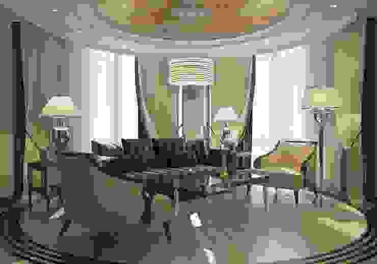 Проект квартиры в Краснодаре в стиле Эклектика Гостиные в эклектичном стиле от Студия авторского дизайна БОН ТОН Эклектичный