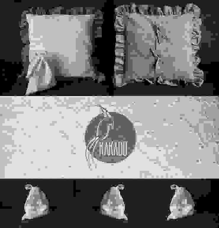 Rustykalna poduszka dekoracyjna z sakiewką od Styl i Wnętrze Rustykalny Bawełna Czerwony