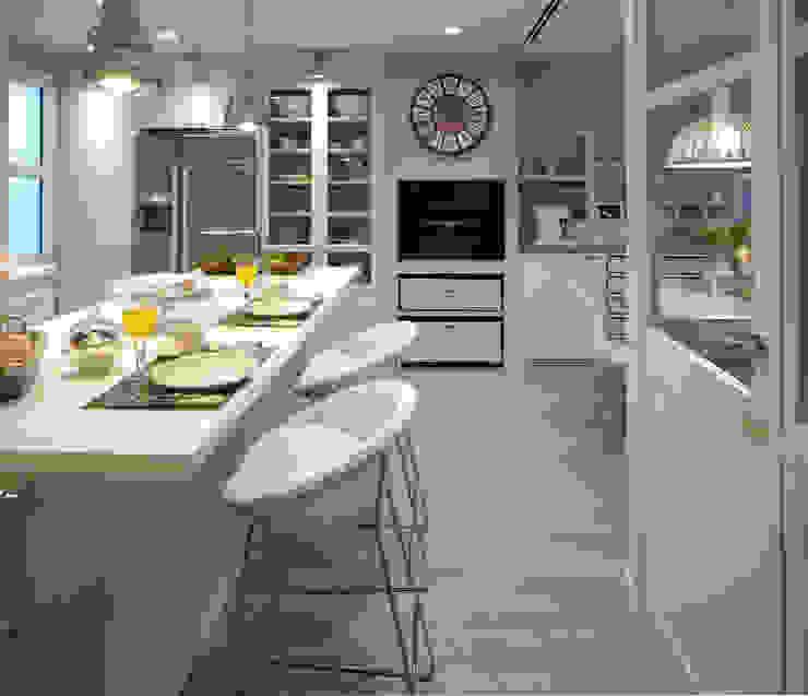 Cucina eclettica di DEULONDER arquitectura domestica Eclettico