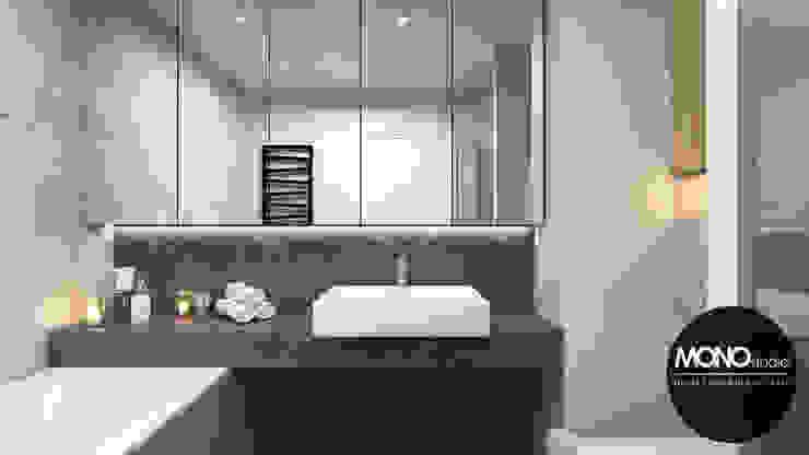 Minimalizm w formie i kolorze Nowoczesna łazienka od MONOstudio Nowoczesny Ceramika