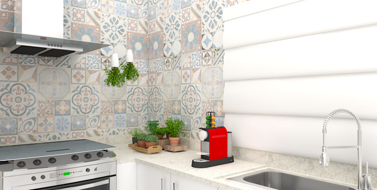 Eclectic style kitchen by Arquiteto Virtual - Projetos On lIne Eclectic MDF