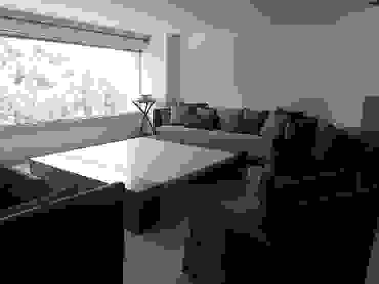 Sala sobre diseño de ARMONIC stone & wood design Moderno