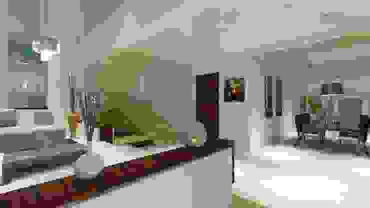 Residencial Europa Pasillos, vestíbulos y escaleras modernos de CouturierStudio Moderno