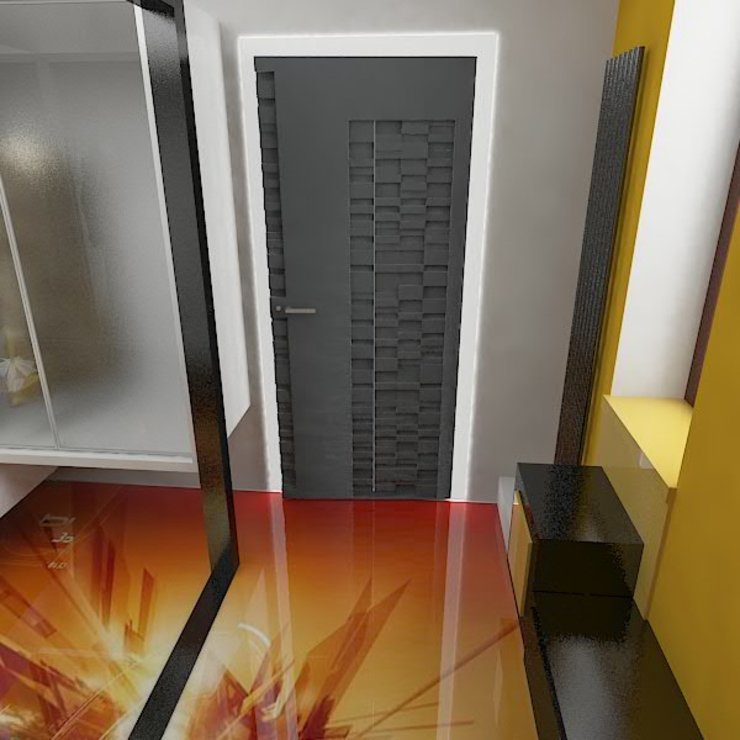 Галина Глебова Couloir, entrée, escaliers minimalistes