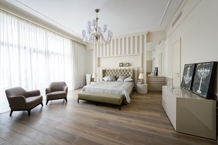 Спальня в квартире на Якиманке Спальня в классическом стиле от Дизайн-студия «ARTof3L» Классический