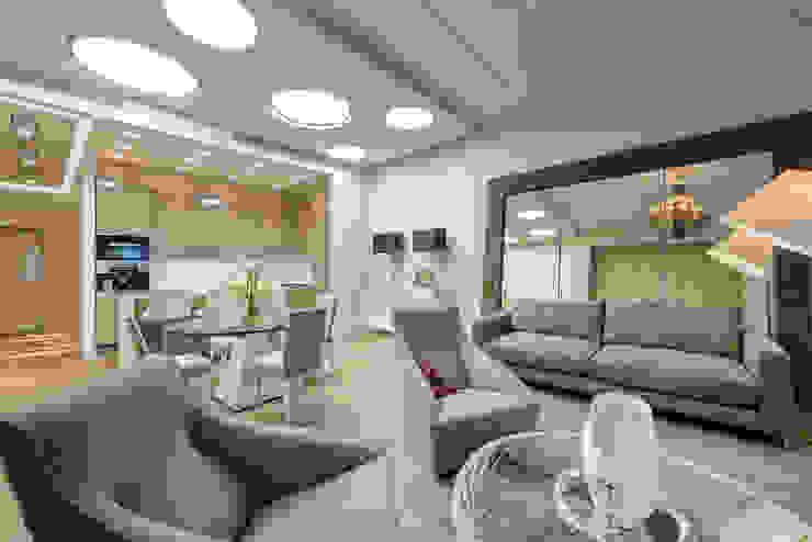 Гостиная в квортире на Якиманке Гостиная в классическом стиле от Дизайн-студия «ARTof3L» Классический