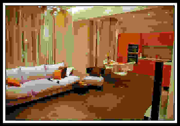 Гостиная в квартире на Тверской Гостиная в классическом стиле от Дизайн-студия «ARTof3L» Классический
