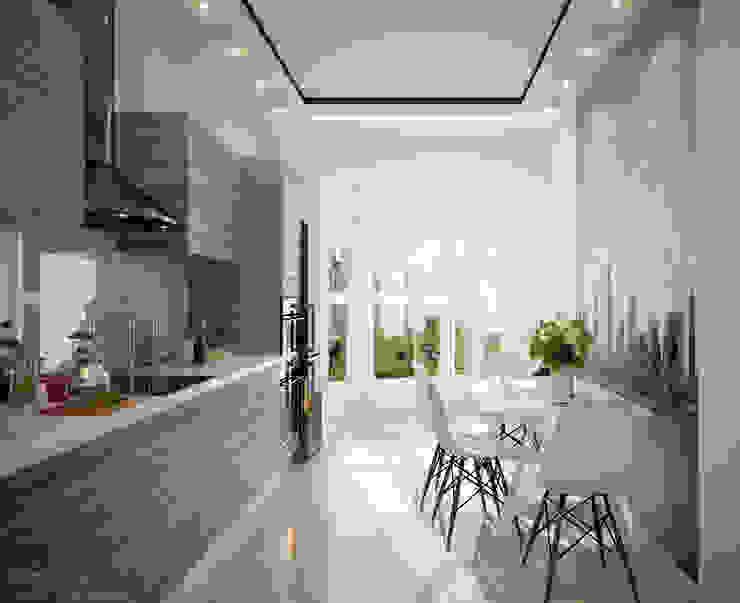 Kitchen by Студия интерьерного дизайна happy.design,