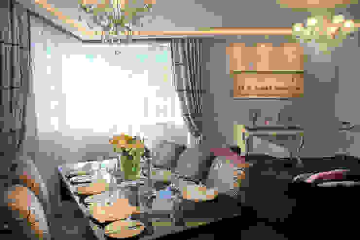 Столовая в квартире на Смоленской Столовая комната в стиле модерн от Дизайн-студия «ARTof3L» Модерн