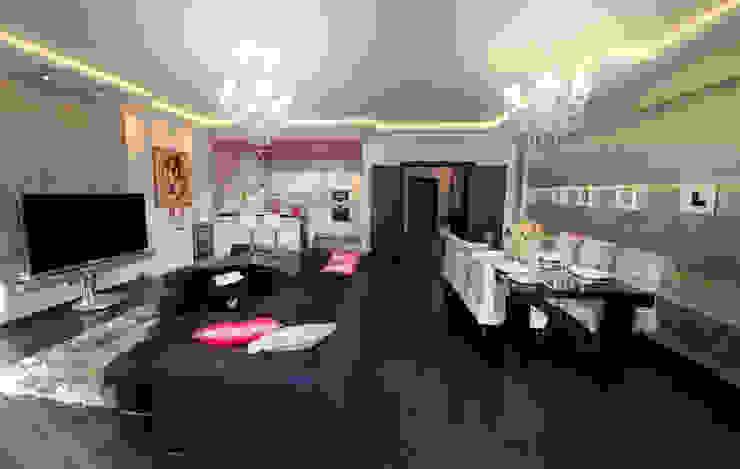 Гостиная в квартире на Смоленской Гостиная в стиле модерн от Дизайн-студия «ARTof3L» Модерн