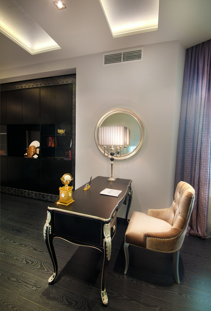 Кабинет в квартире на Смоленской Рабочий кабинет в стиле модерн от Дизайн-студия «ARTof3L» Модерн