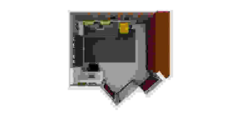 Arquiteto Virtual - Projetos On lIne Dormitorios de estilo industrial