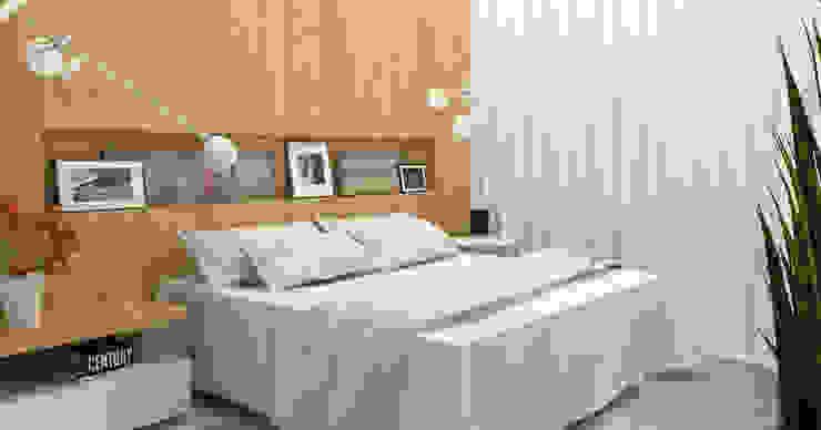 Quarto Casal Quartos modernos por Arquiteto Virtual - Projetos On lIne Moderno
