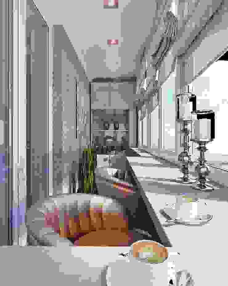 Достойный интерьер для маленького балкона Балкон и терраса в стиле модерн от Студия дизайна Interior Design IDEAS Модерн