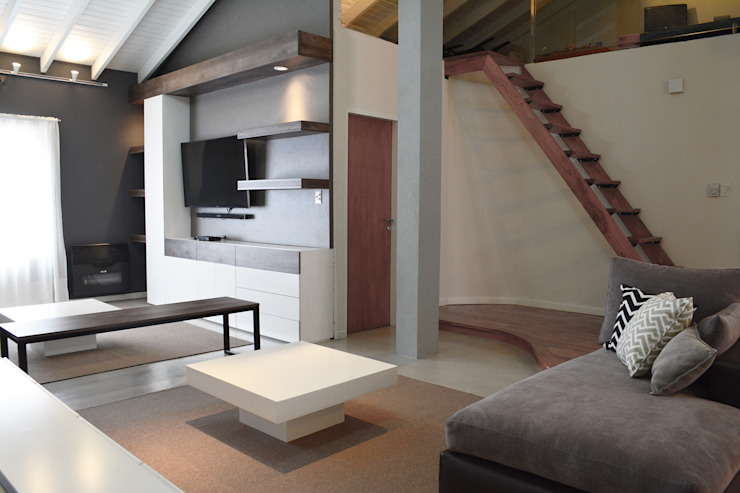 Remodelacion PH / Pent House: Livings de estilo  por Estudio Nicolas Pierry
