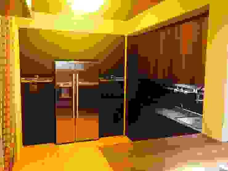 La tecnologia prima di tutto Zoom Interior Life Style Cucina minimalista MDF Effetto legno