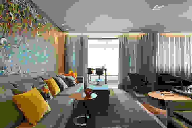 Ruang Keluarga Modern Oleh Mariana Borges e Thaysa Godoy Modern