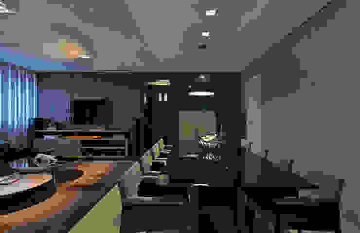 Ruang Makan Modern Oleh Mariana Borges e Thaysa Godoy Modern