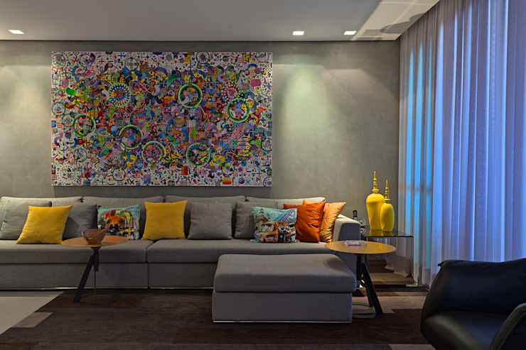 Modern Living Room by Mariana Borges e Thaysa Godoy Modern