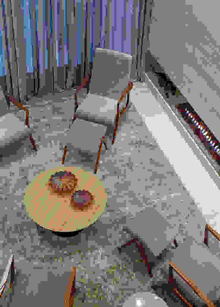 Sala da lareira Salas de estar modernas por Mariana Borges e Thaysa Godoy Moderno