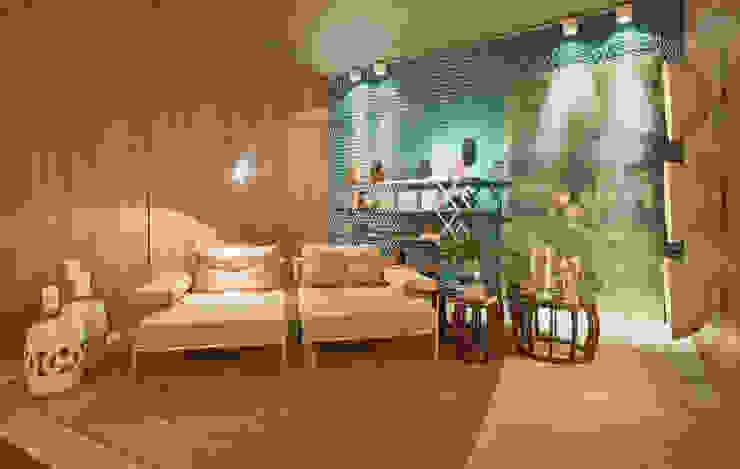 Estar do Foyer Salas de estar modernas por Mariana Borges e Thaysa Godoy Moderno