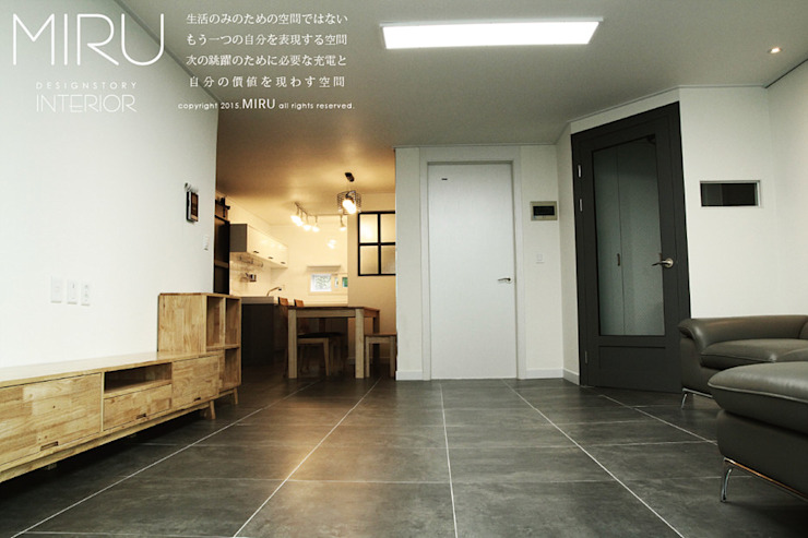 Living room by 미루디자인, Modern