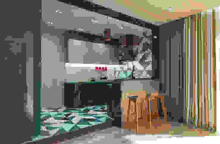 Загородный дом в современном стиле Кухня в стиле модерн от Настасья Евглевская Модерн
