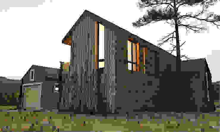 ЧАСТНЫЙ ДОМ DWELL HOUSE Дома в стиле минимализм от IK-architects Минимализм Дерево Эффект древесины