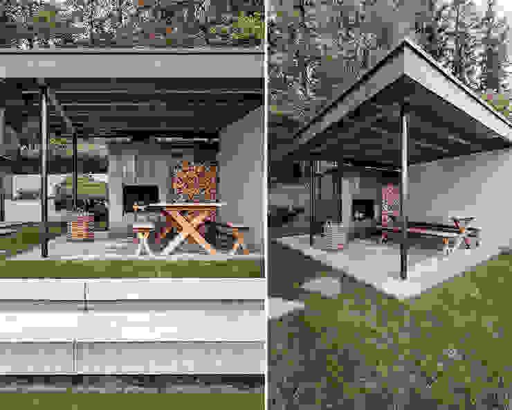 Varandas, alpendres e terraços modernos por meier architekten zürich Moderno Cobre/Bronze/Latão