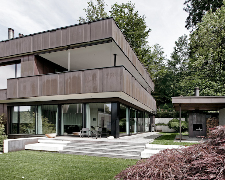 Casas modernas por meier architekten zürich Moderno Cobre/Bronze/Latão