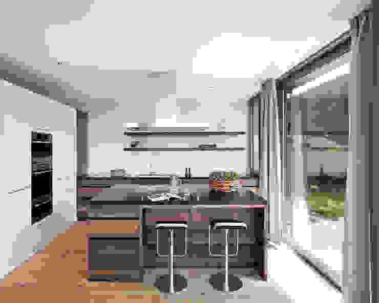Cozinhas modernas por meier architekten zürich Moderno Madeira Efeito de madeira
