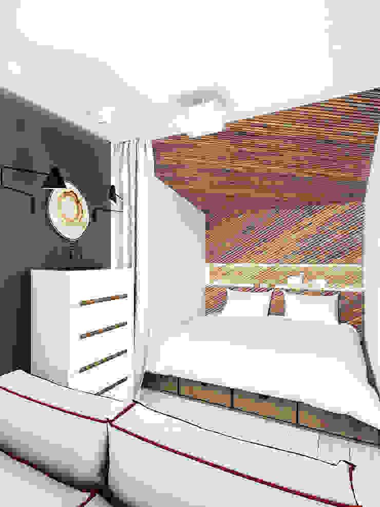 KEKS'S APARTMENT Спальня в стиле минимализм от IK-architects Минимализм