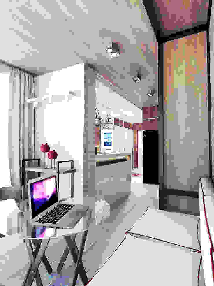 KEKS'S APARTMENT Балкон и терраса в стиле минимализм от IK-architects Минимализм
