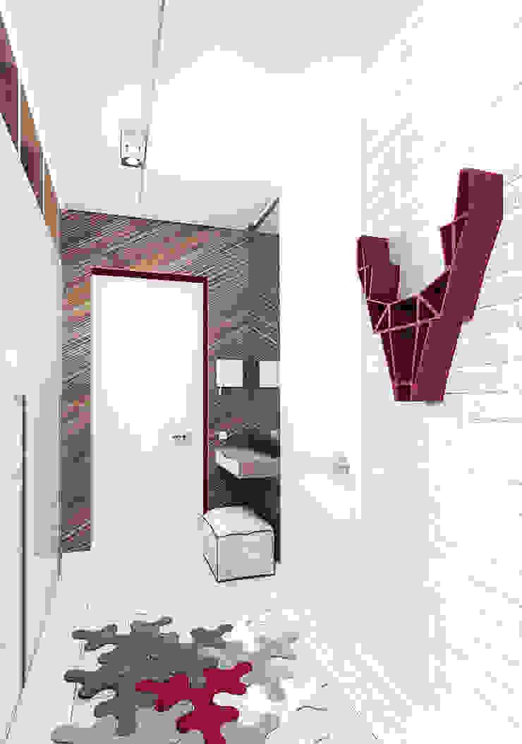 KEKS'S APARTMENT Коридор, прихожая и лестница в стиле минимализм от IK-architects Минимализм