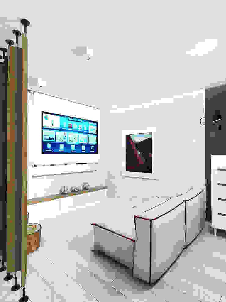 KEKS'S APARTMENT Гостиная в стиле минимализм от IK-architects Минимализм