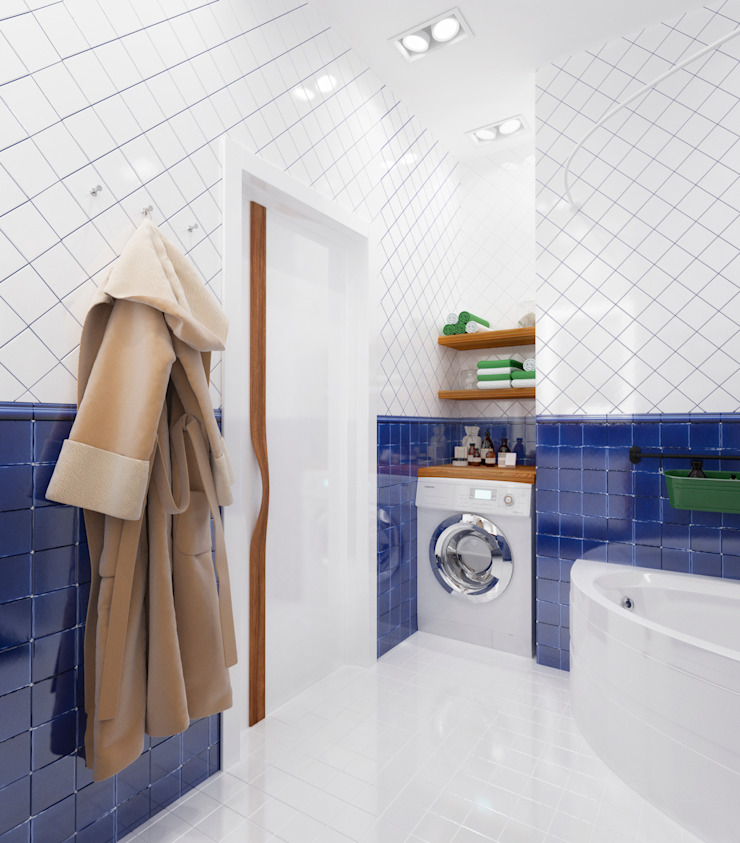 Eclectic style bathroom by Настасья Евглевская Eclectic Ceramic