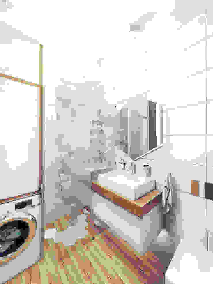 KEKS'S APARTMENT Ванная комната в стиле минимализм от IK-architects Минимализм
