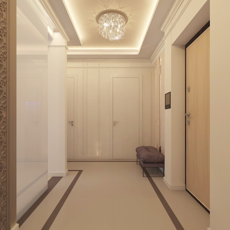Classic style corridor, hallway and stairs by Частный дизайнер и декоратор Девятайкина Софья Classic