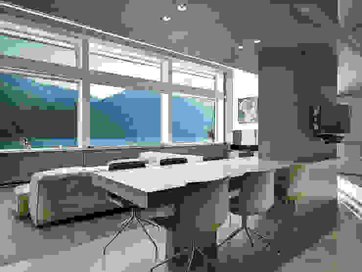 Comedores de estilo moderno de arkham project Moderno