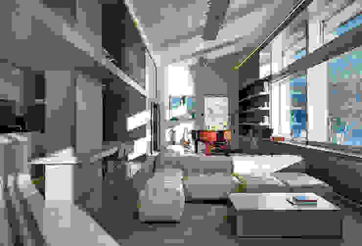 Salas de estar modernas por arkham project Moderno
