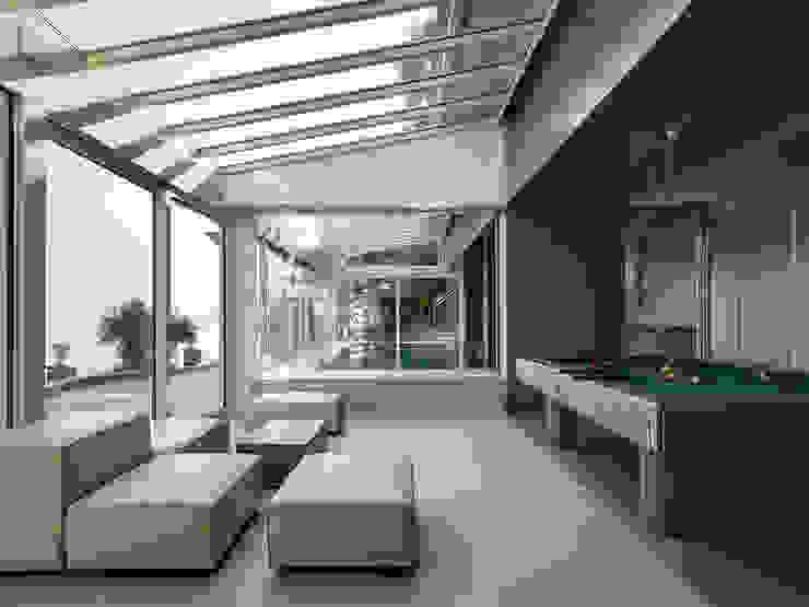 Villa T Balcone, Veranda & Terrazza in stile moderno di arkham project Moderno