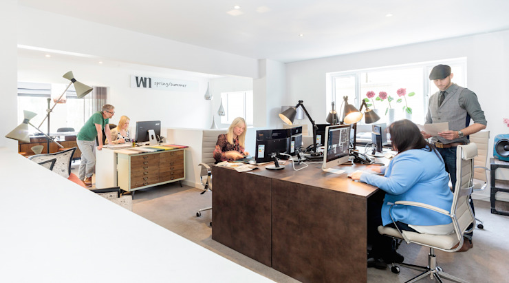WN Interiors Design Studio Modern office buildings by homify Modern