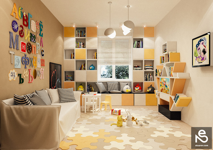 Nursery/kid's room by Studio Eksarev & Nagornaya