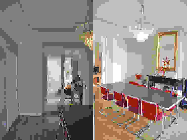 wooneetkamer voor de verbouwing van Marc Font Freide Architectuur